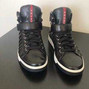 Prada hi top sneaker
